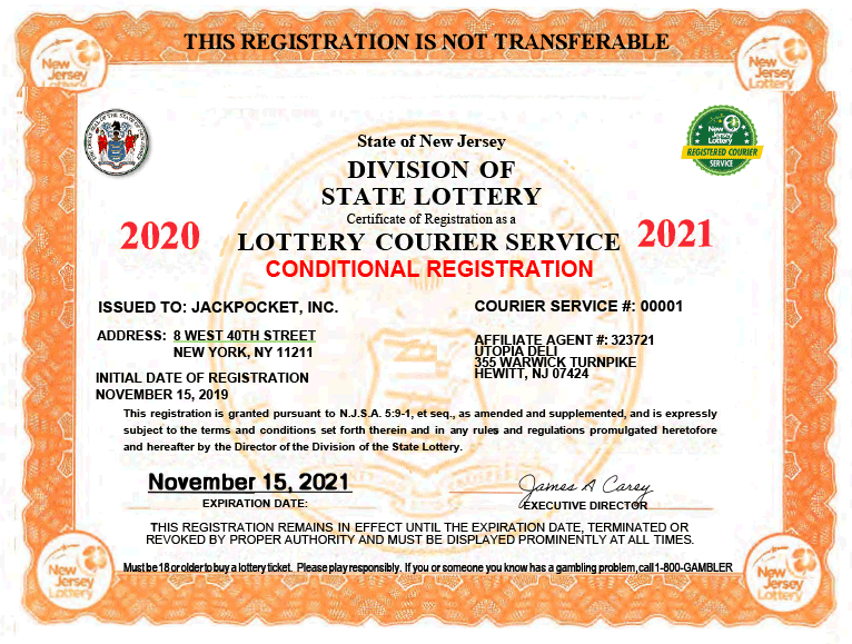 Courier License for New Jersey